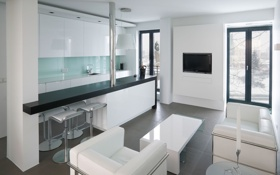 Обои дизайн, стиль, комната, интерьер, кухня, Apartment in Reykjavik