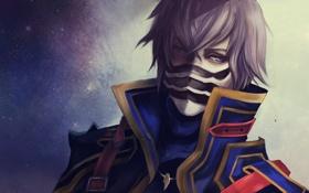 Обои маска, парень, Final Fantasy, art, kurasame, Kurasame Susaya
