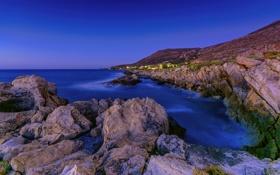 Картинка море, природа, камни, фото, побережье, Греция, Kriti