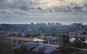 Картинка небо, облака, город, крыши, Россия, Russia, Калуга