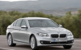 Картинка car, машина, BMW, road, в движении, speed, Sedan