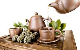 Картинка фото, Листья, Напиток, Чашка, Еда, Чай