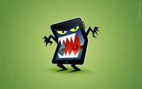 Обои злой, iphone, на фон