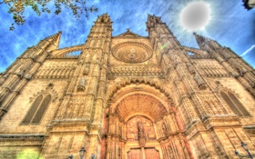 Обои Пальма, архитектура, Мальорка, Испания, hdr, собор