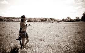Обои Rosanna Bell, луг, Природа, фотоаппарат, canon