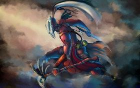 Картинка оружие, маска, дымка, мужчина, Diablo, III, Inspired Witch Doctor