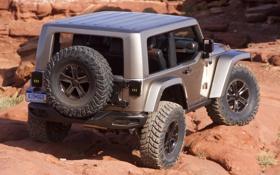 Обои задок, Flattop, Concept, Jeep, машина, Wrangler, запаска