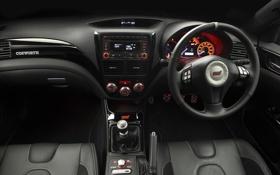 Обои impreza, Subaru, руль, приборы, кабина, панель