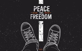 Обои кеды, rock, рок, peace, freedom, сonverse