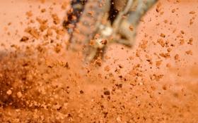 Обои песок, макро, камни, фото, спорт, мото, гонки