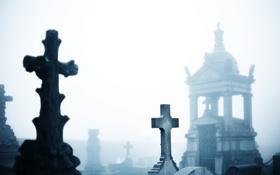 Обои кресты, могилы, склеп, Кладбище