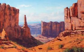 Обои каньон, art, utah, artsaus