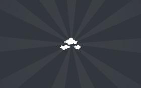 Обои облака, фон, обои, минимализм