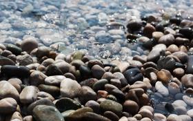 Обои вода, блики, камни, Море