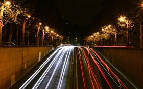 Картинка ночь, Франция, Париж, красота, выдержка