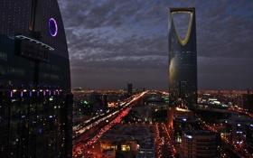 Картинка ночь, город, огни, Саудовская Аравия, Эр-Рияд, By HammaD.TN∞