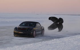 Картинка зима, car, машина, снег, трасса, лёд, ice