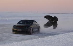Картинка winter, лёд, bentley continental supersports, road, 1920x1200, машина, car