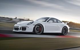 Картинка авто, небо, обоя, 911, Porsche, вид сбоку, GT3