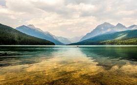 Картинка usa, glacier national park, montana, kayak, bowman lake