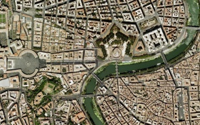 Обои Рим, Ватикан, Собор Святого Петра, Vatican, Roma, спутниковая карта, satellite map