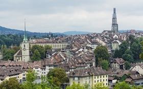 Обои Берн, здания, панорама, Switzerland, Швейцария, Bern