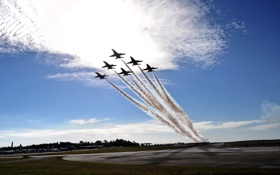 Обои fly, Blue Angels, delta formation