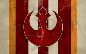 Обои red, logo, Star wars