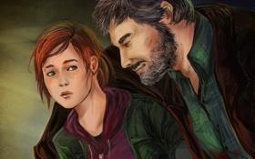 Картинка арт, Элли, the last of us, Joel, ellie, Джоел