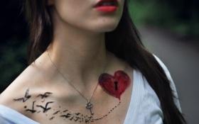Картинка девушка, настроение, The Key to my Heart