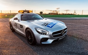 Обои Mercedes, мерседес, AMG, GTS, амг, Safety Car, 2015