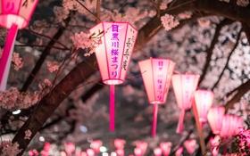 Картинка город, весна, светильники