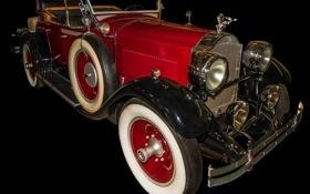 Обои Packard, колесо, фары, ретро