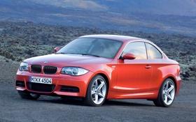 Обои BMW, Машина, Решетка, БМВ, Оранжевый, Корпус, 1 Series