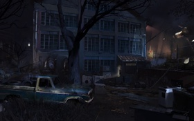 Обои машина, ночь, здание, америка, Splinter Cell: Conviction