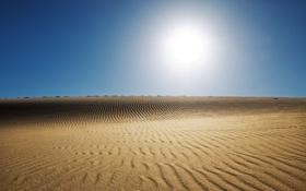 Картинка лето, небо, солнце, пустыня, сахара