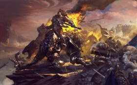 Картинка World of Warcraft, орк, art, warlords of draenor, Grommash Hellscream