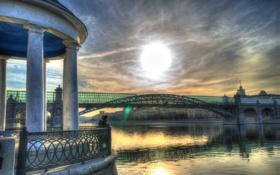Обои мост, река, фотограф, photography, photographer, Александр Гринев