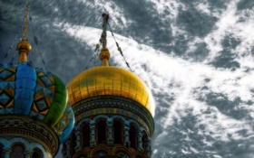 Картинка Russia, Saint Petersburg, Onion Domes of Church of the Savior on Blood