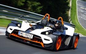 Картинка трасса, пилот, KTM, тест, X-Bow, Nurburgring