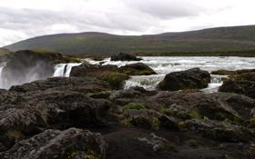 Картинка landscape, пейзаж, nature, небо, water, waterfall, водопад
