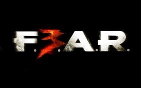 Обои надпись, игра, Game, Fear, Fear 3
