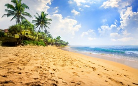 Картинка tropical, summer, море, shore, sand, sea, песок