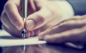 Картинка paper, writing, fingers