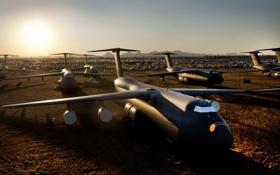 Обои аэродром, самолёты, C-5