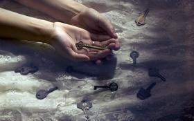 Картинка фон, руки, ключи