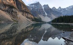 Обои вода, деревья, горы, природа, озеро, камни, фото