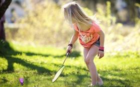 Картинка зелень, трава, природа, дети, детство, фон, обои