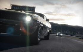 Картинка гонка, трек, Dodge Challenger, need for speed shift