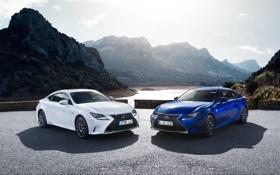 Обои синий, F-Sport, белый, лексус, Lexus